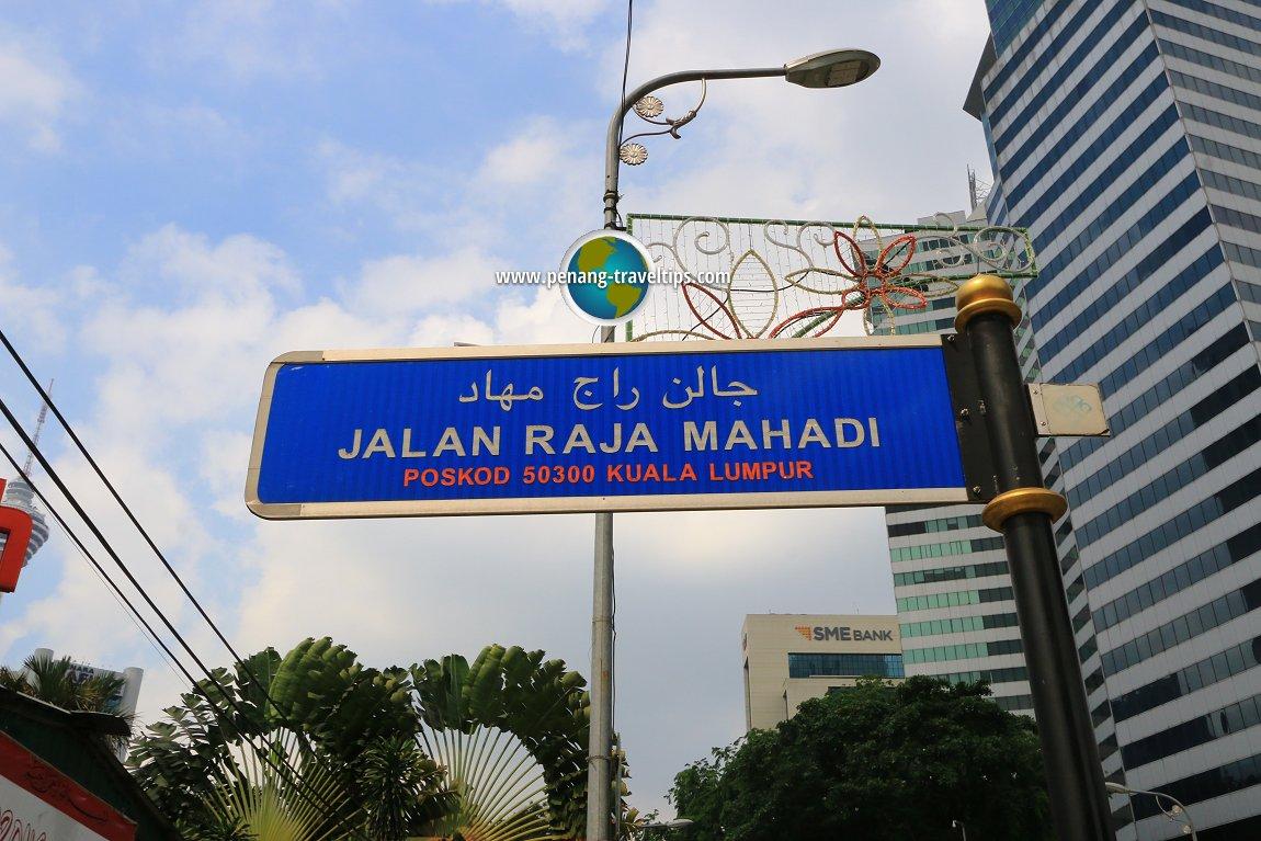 Jalan Raja Mahadi road sign