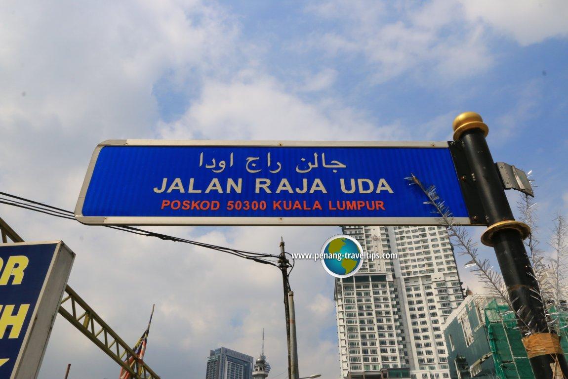 Jalan Raja Uda road sign