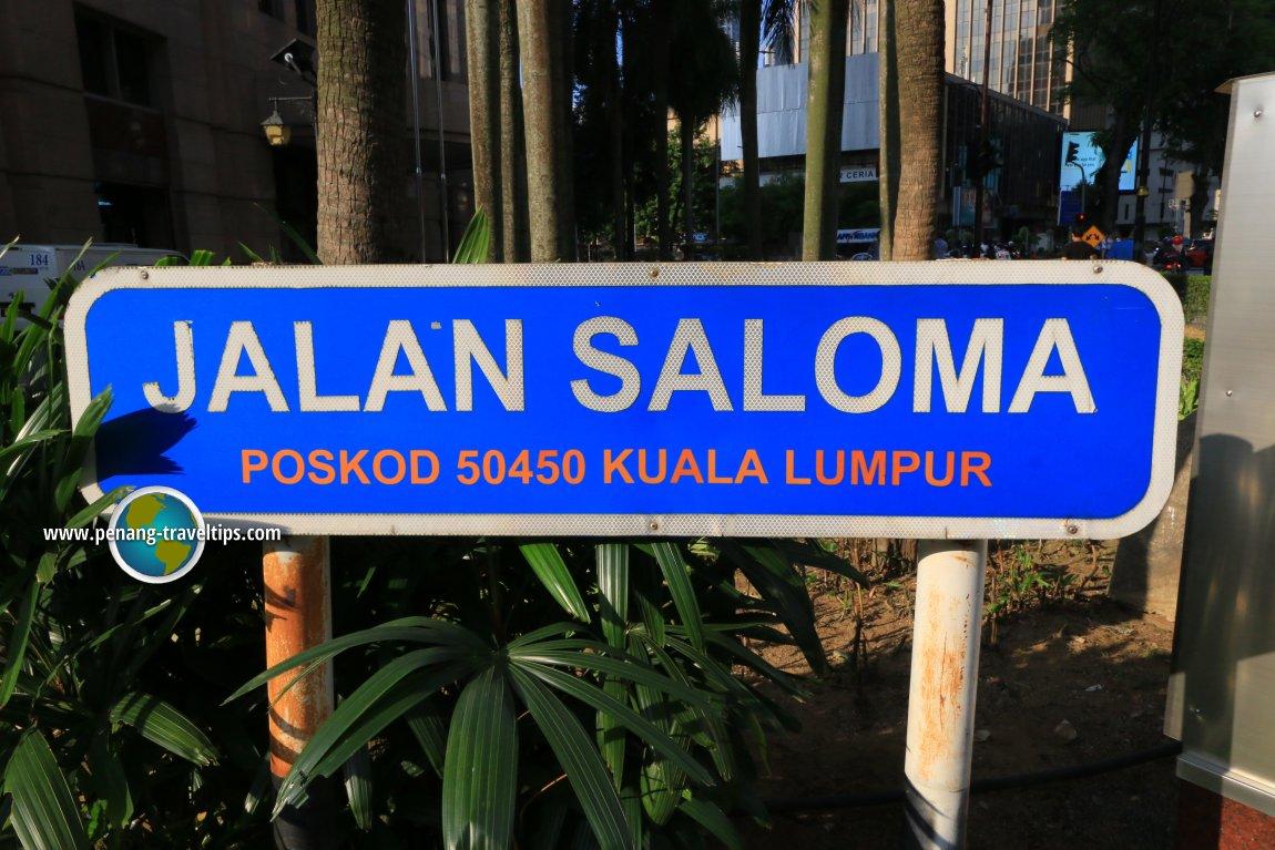 Jalan Saloma road sign