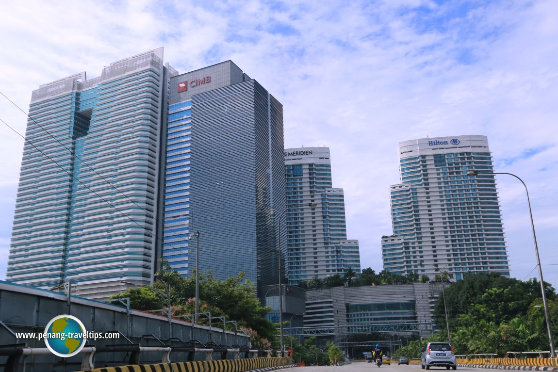 Skyscrapers within the KL Sentral development