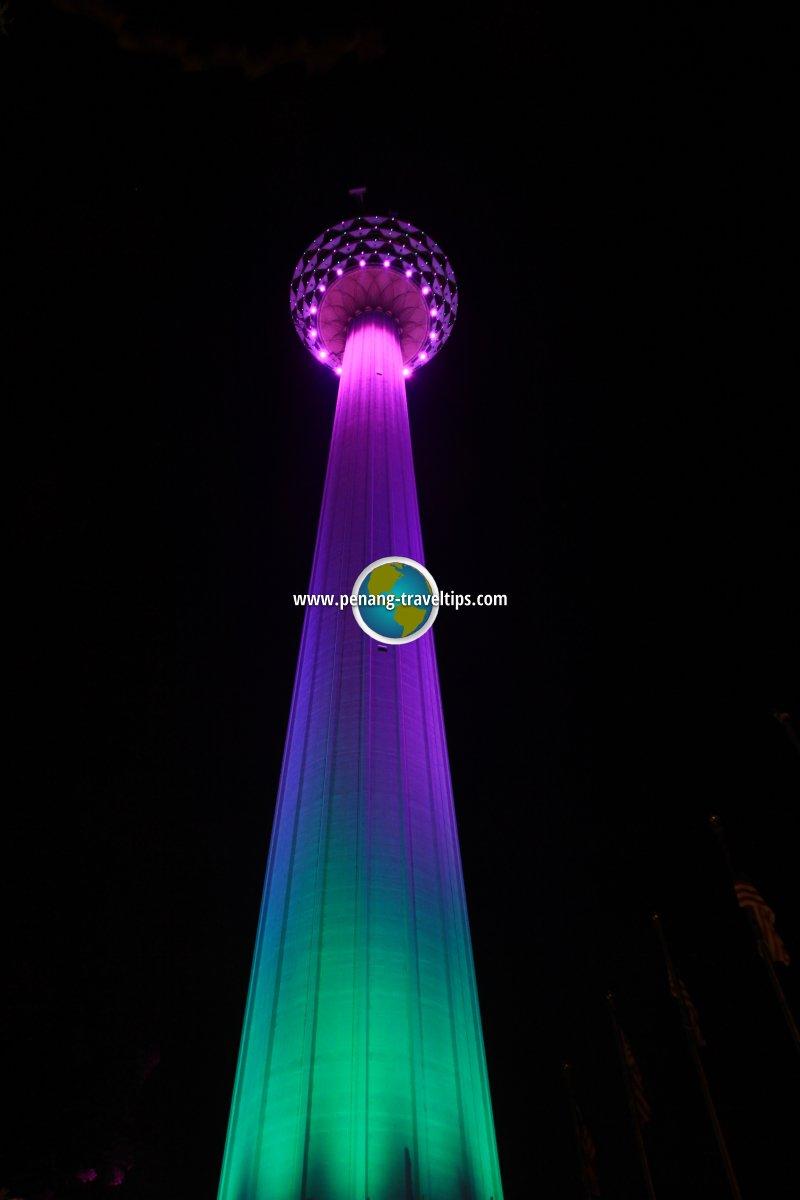 KL Tower at night