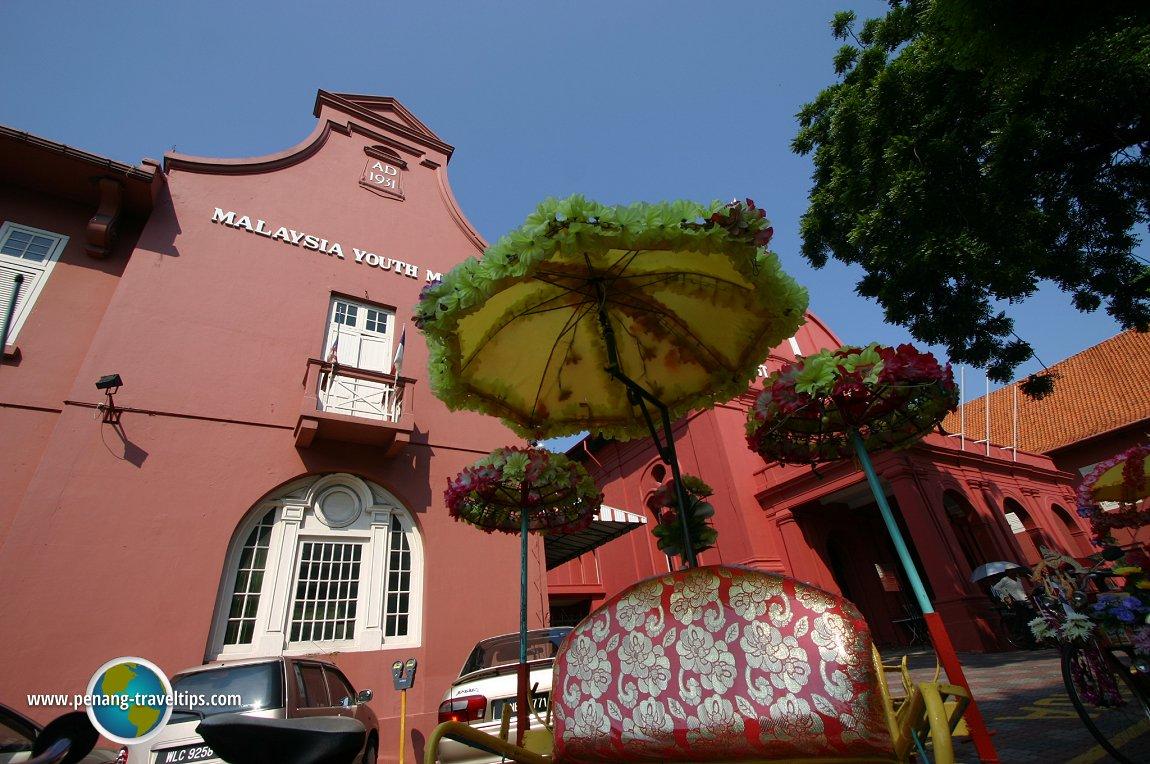 Melaka trishaw parasols