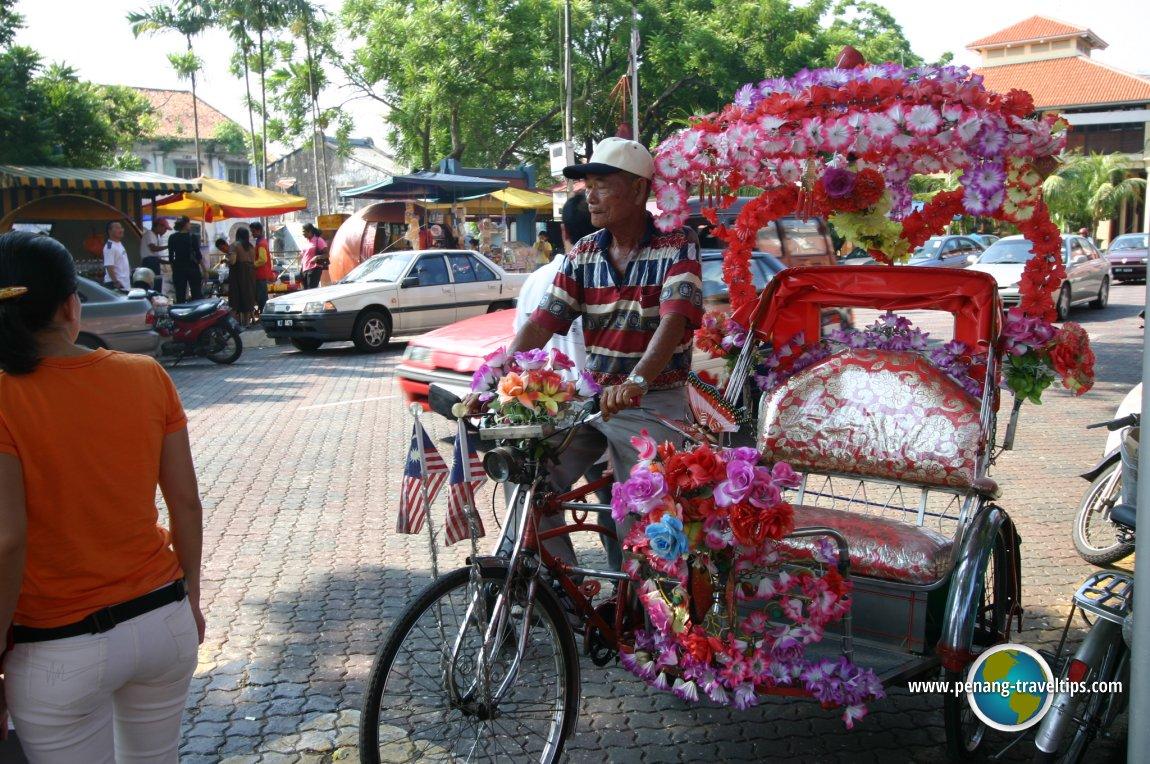 Melaka trishaw man