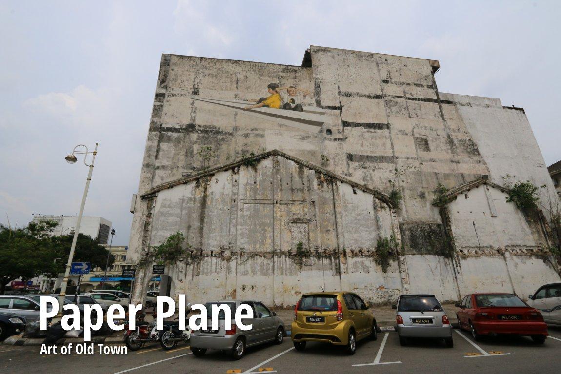 Paper plane mural ipoh for Mural 1 malaysia negaraku