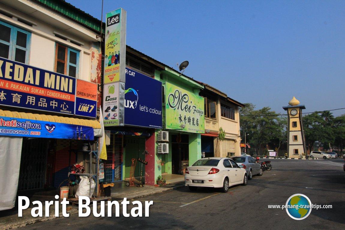 The old town centre of Parit Buntar, Perak