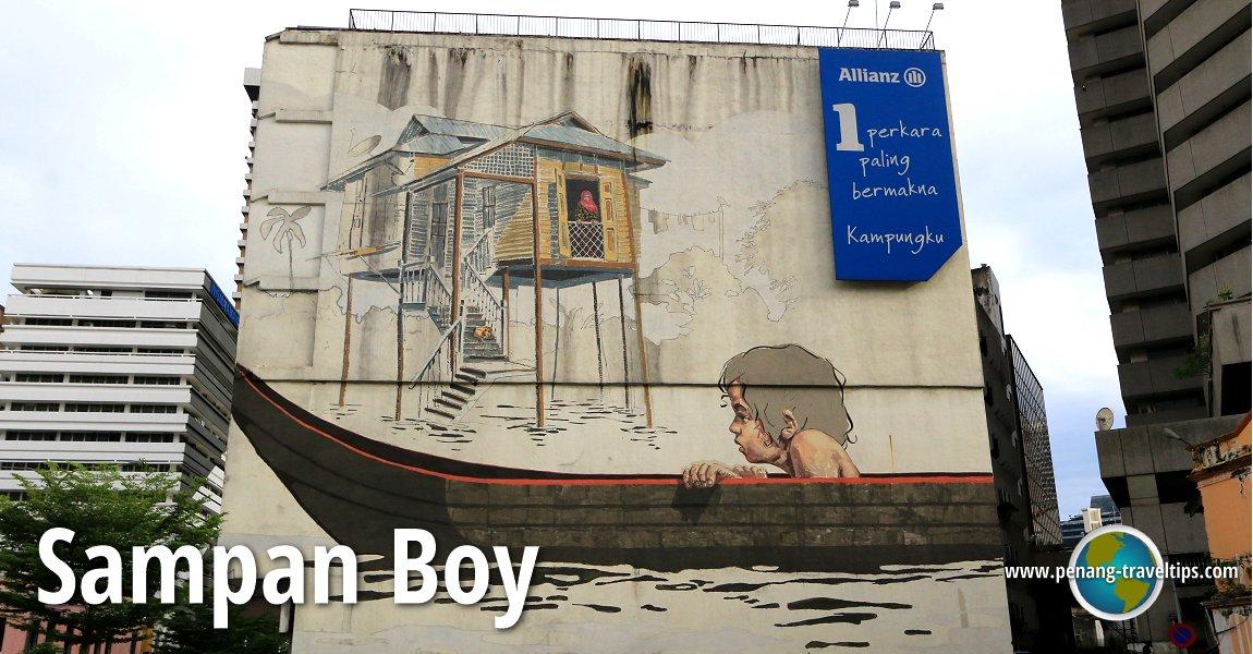 Ernest zacharevic 39 s sampan boy mural kuala lumpur for Mural 1 malaysia