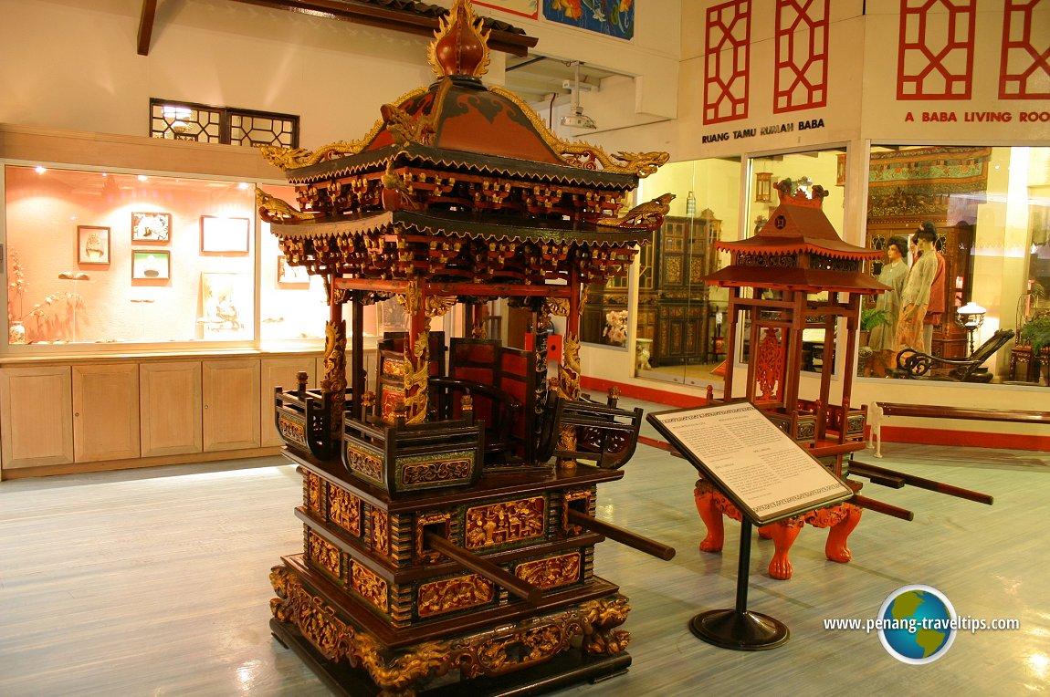 Sedan chairs display at Muzium Negara
