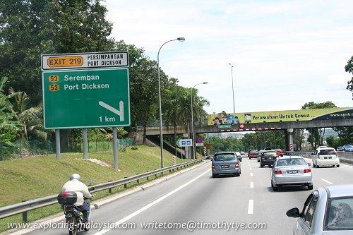 Exit 219: Port Dickson Interchange