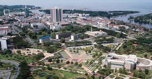 Miri aerial view, Sarawak