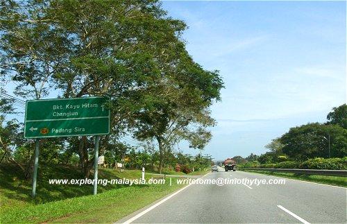 Turning to Padang Sira from North-South Expressway