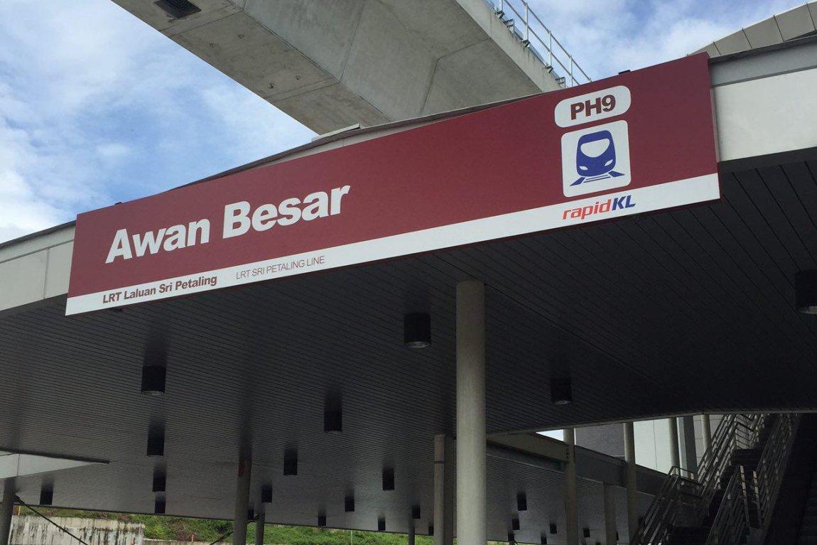 Awan Besar LRT Station