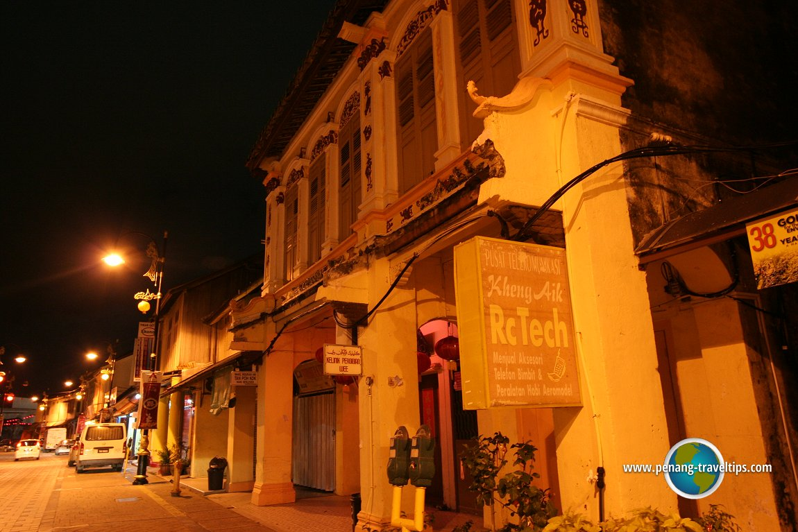 Kuala Terengganu's Chinatown at night