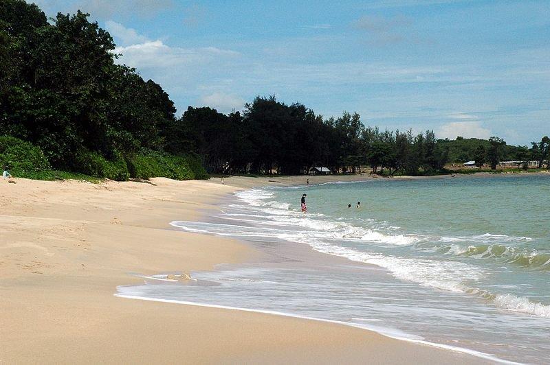 The beach at Desaru, Johor