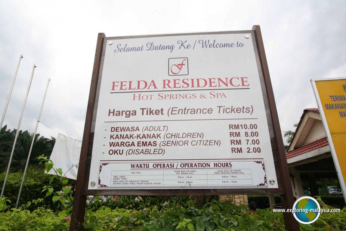 Felda Residence Hot Springs Sungai Kelah Perak Malaysia Tiket River Safari Plus Boat Ride Dewasa Adult
