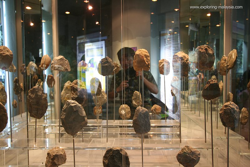 Flints at the Lenggong Archaeological Museum
