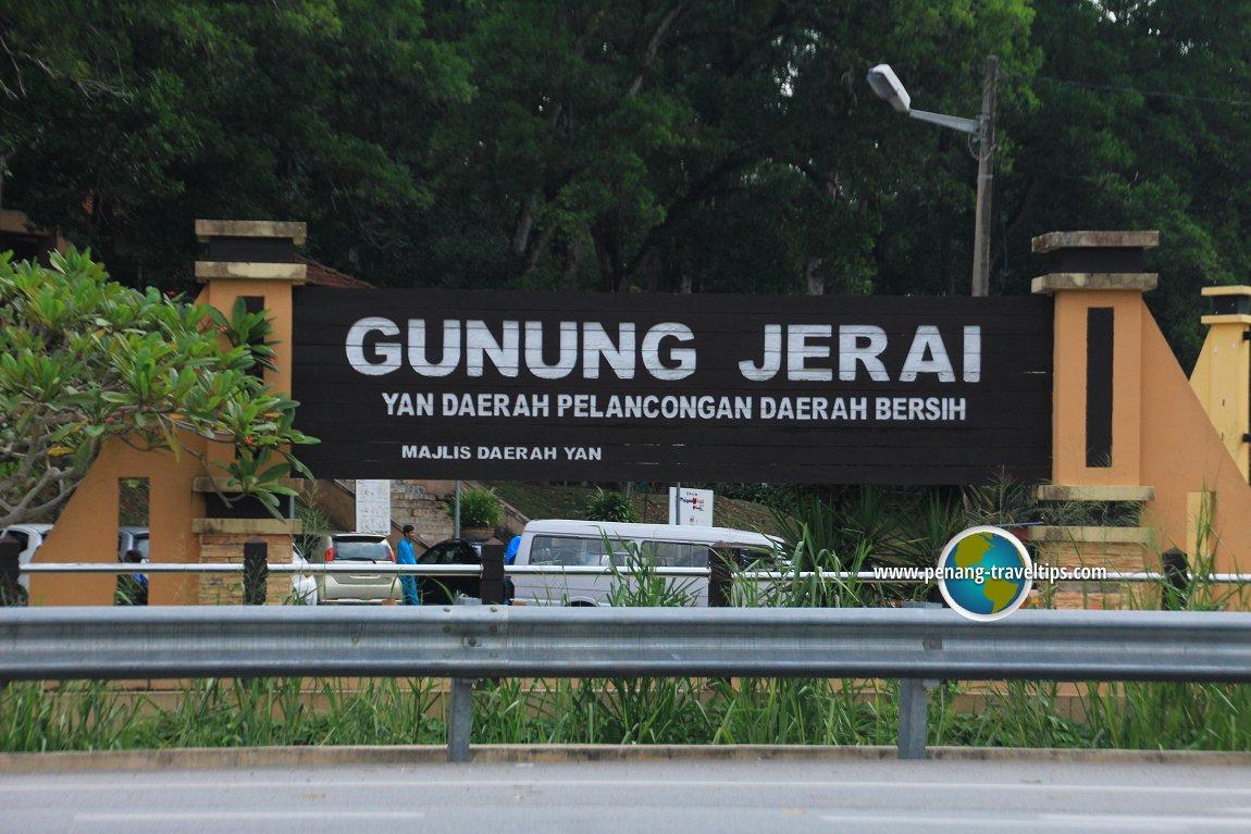 Gunung Jerai signboard