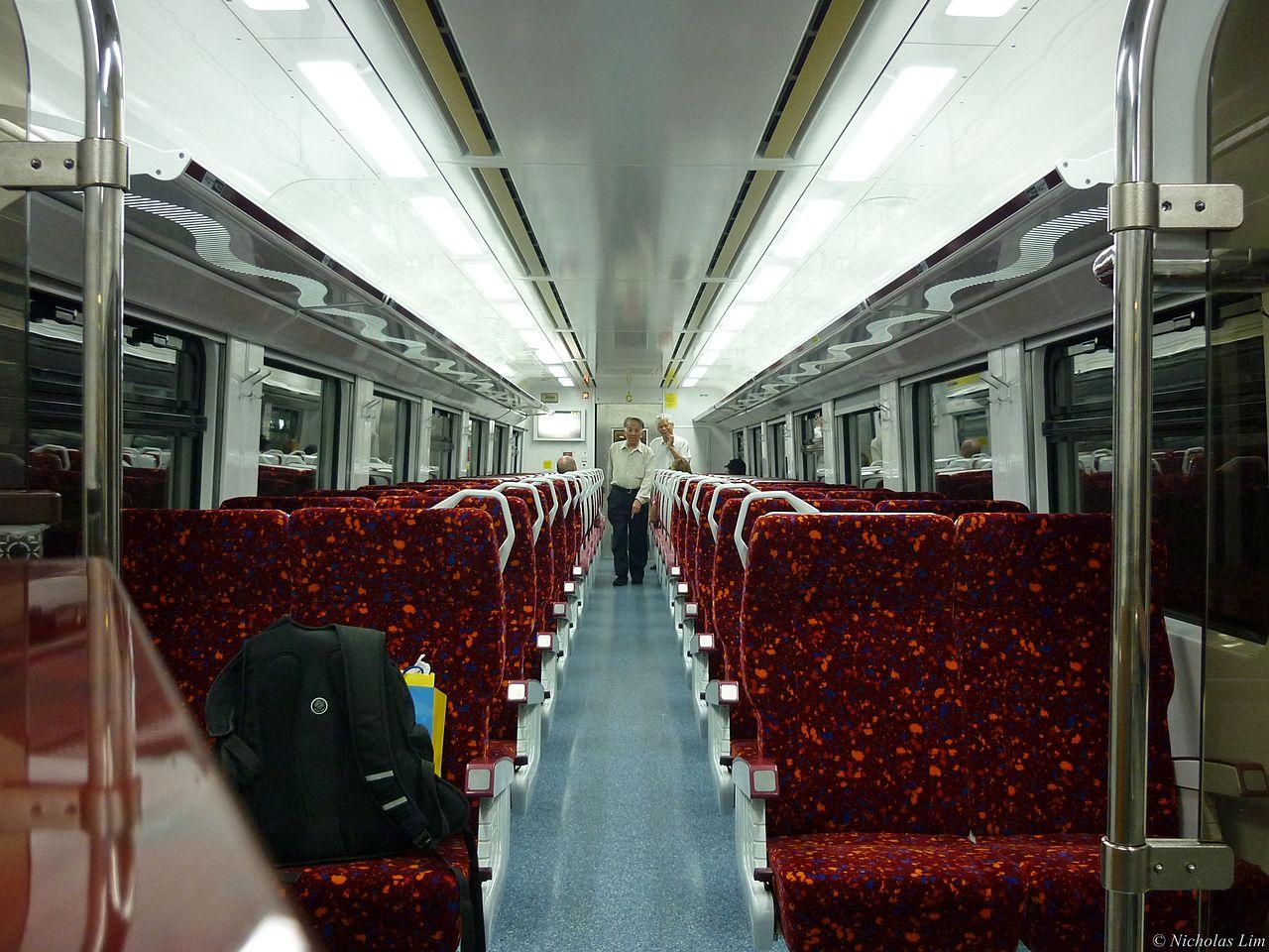Interior of ETS train