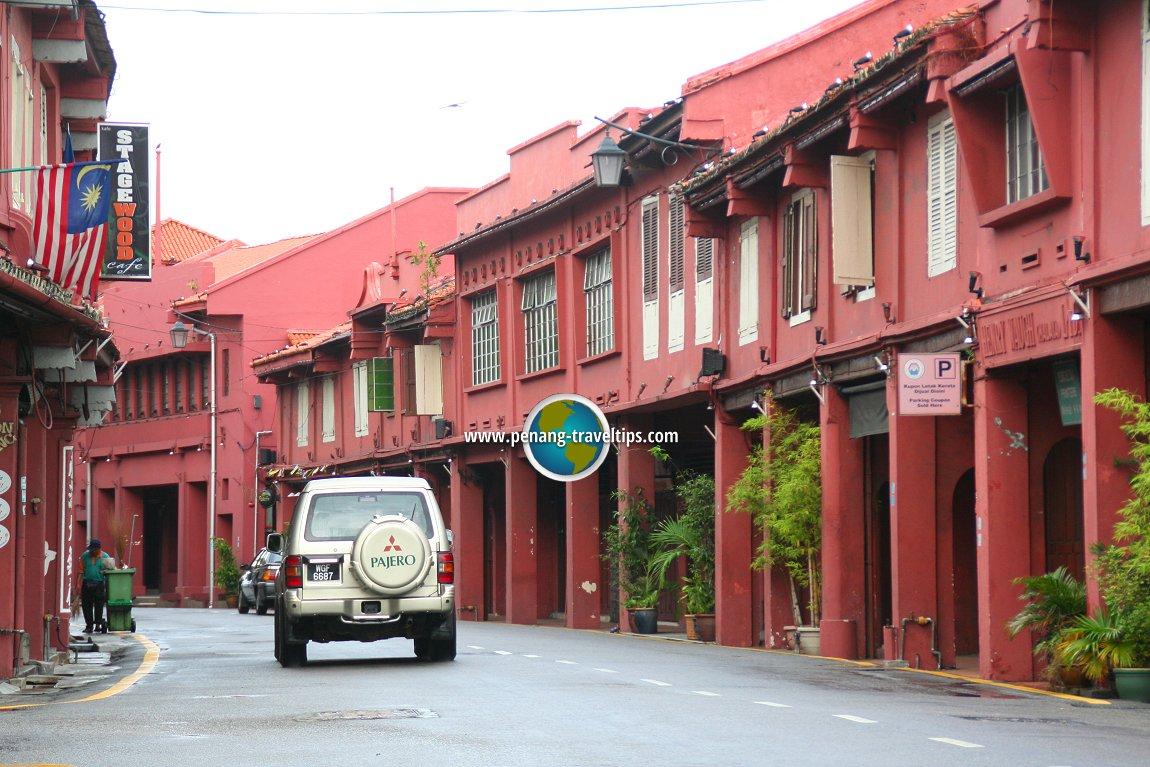 Jalan Laksamana, Melaka, in the morning