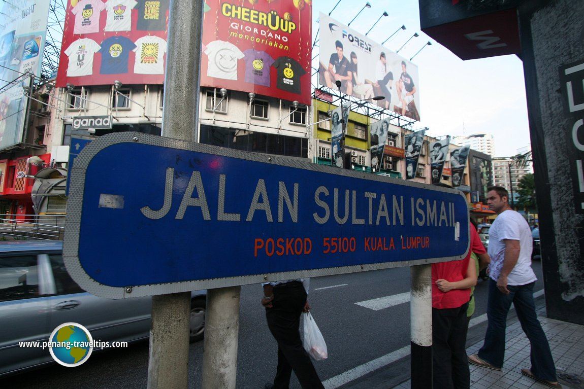 Jalan Sultan Ismail road sign