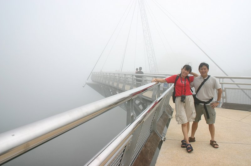Suspension Bridge Walkway on Gunung Machincang