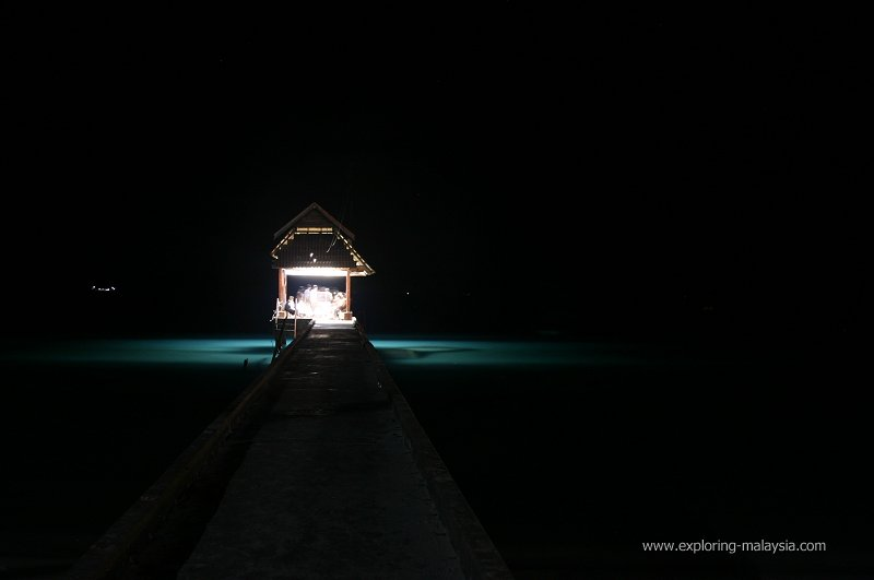 The jetty at Pulau Perhentian Besar at night