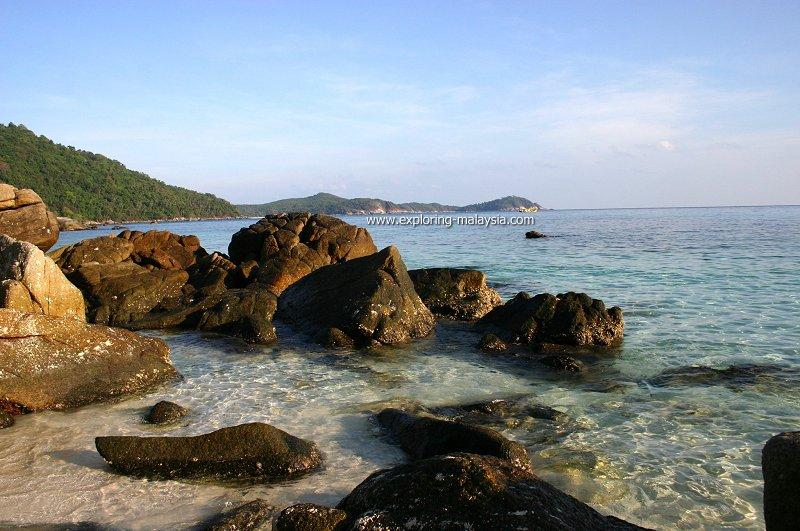 Crystal-clear waters of Pulau Perhentian Besar