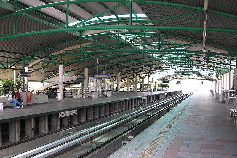 Sultan Ismail LRT Station platform view