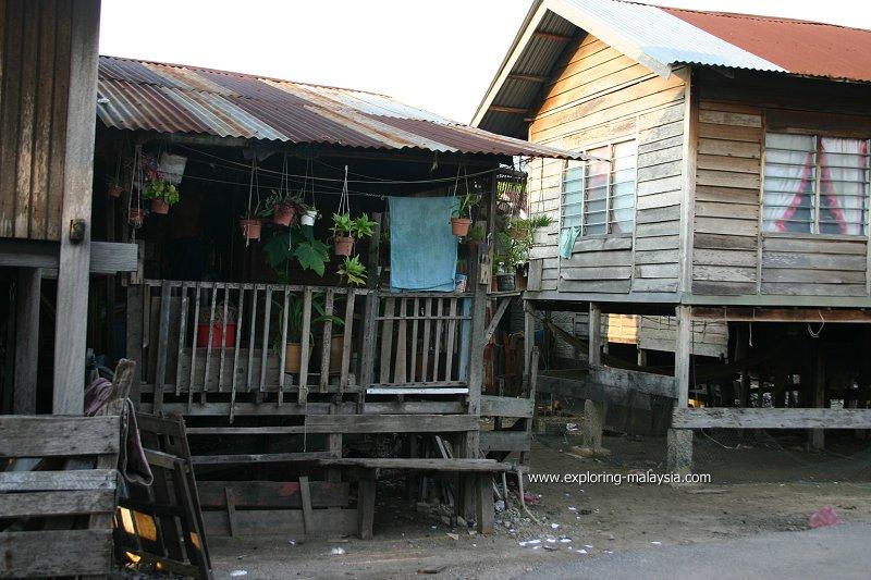 Fishermen's huts, Tanjung Dawai