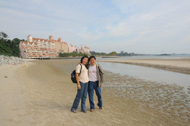 Tim and Chooi Yoke in Port Dickson