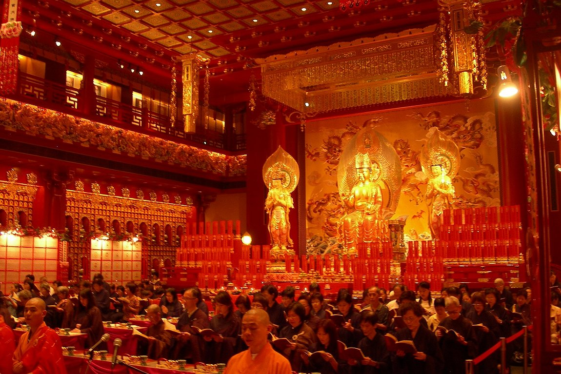 Interior of the Buddha Tooth Relic Temple