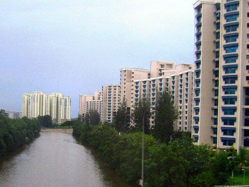 Sembawang River flowing through Sembawang Estate