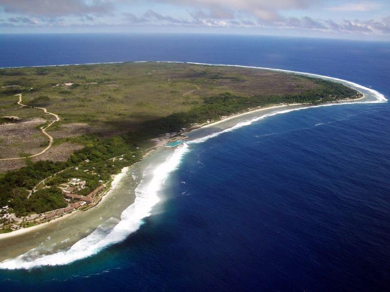 Aerial view of East Nauru