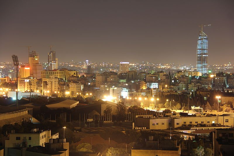 Amman, Jordan, at night