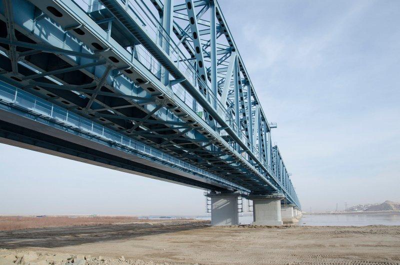 Bridge across the Amu Darya river