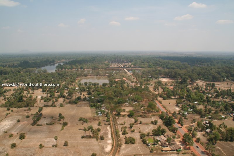 Here I view Angkor from a hot-air balloon