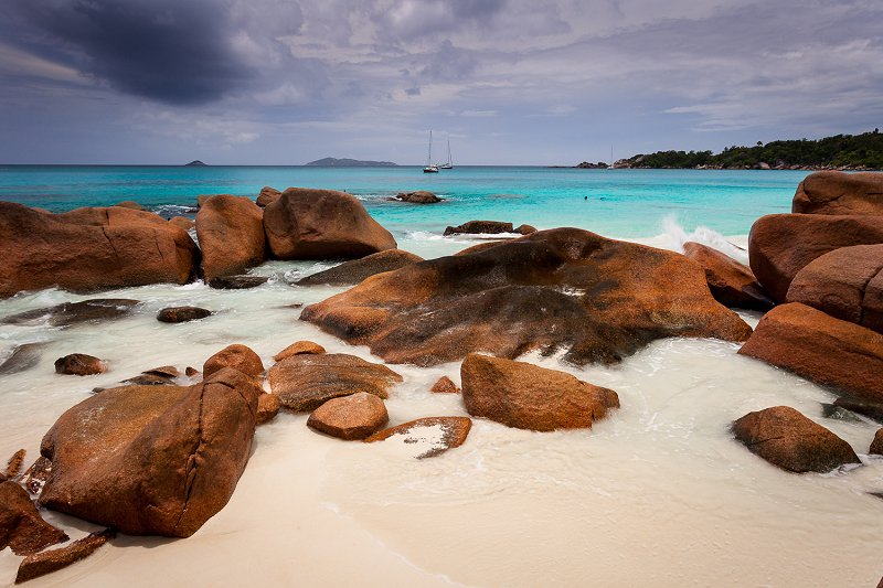 Anse Lazio beach on Praslin Island, Seychelles