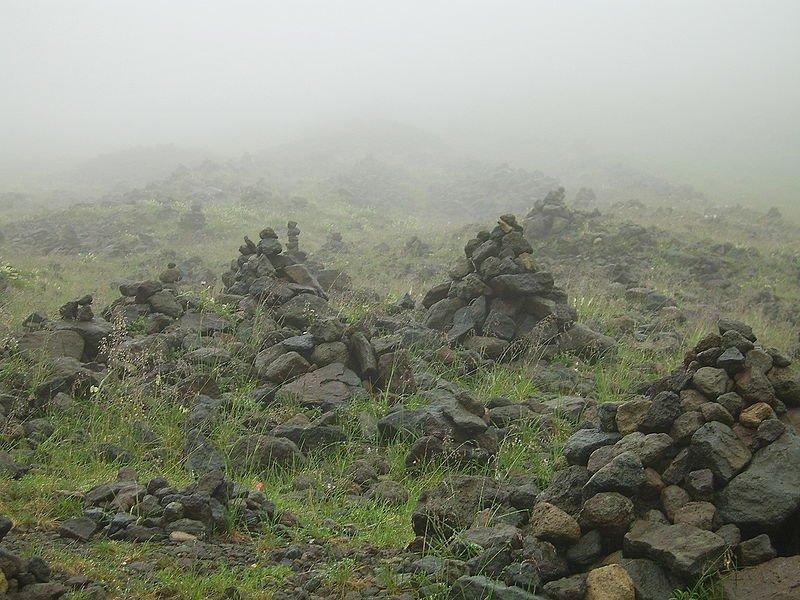Cairns on Baekdu Mountain