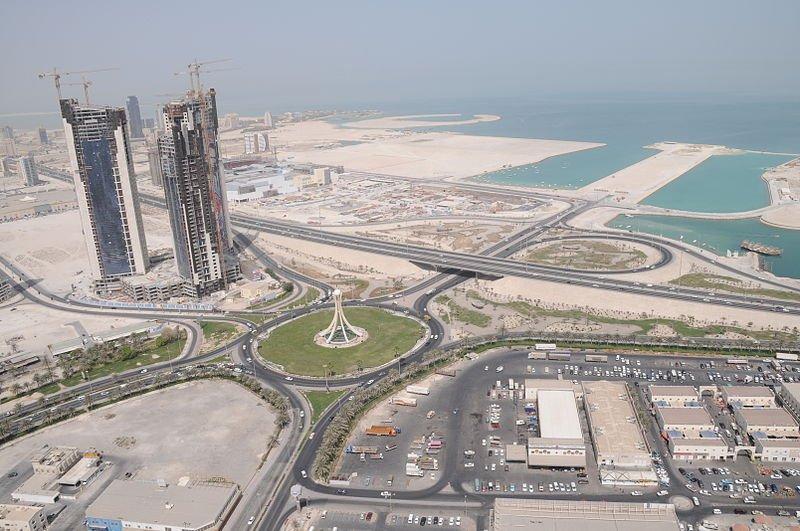Bahrain aerial view