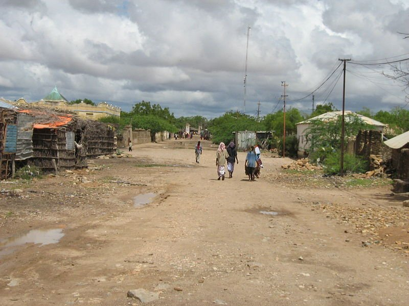 The town of Bardera in southern Somalia