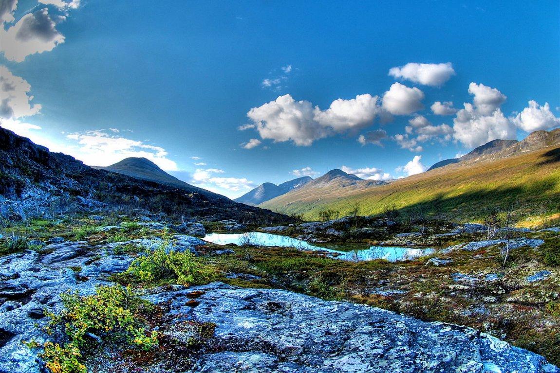 Landscape in Bárrás, Norway