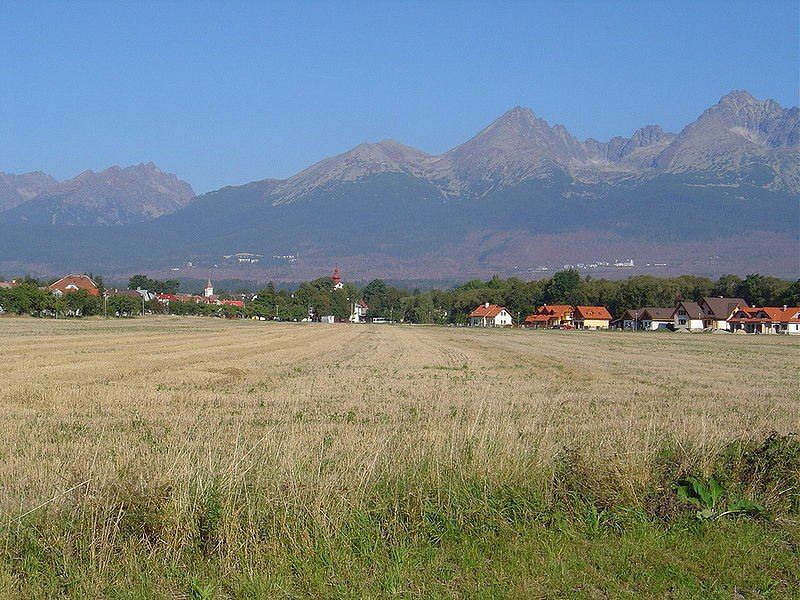 The village of Batizovce under the High Tatras in Slovakia