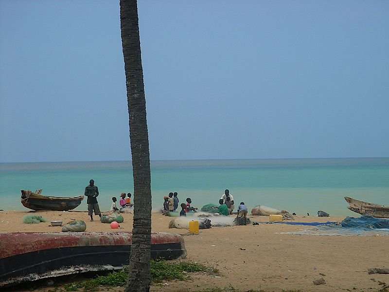 Beach in Aného, Togo