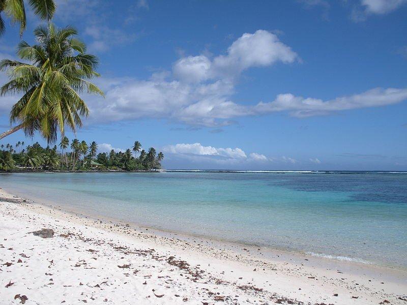 Beach on Upolu Island, Samoa
