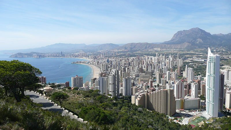 Benidorm in the Valencian Community, Spain