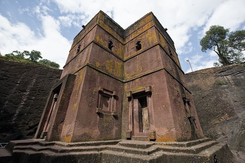 Bete Giyorgis rock-hewn church at Lalibela, Ethiopia