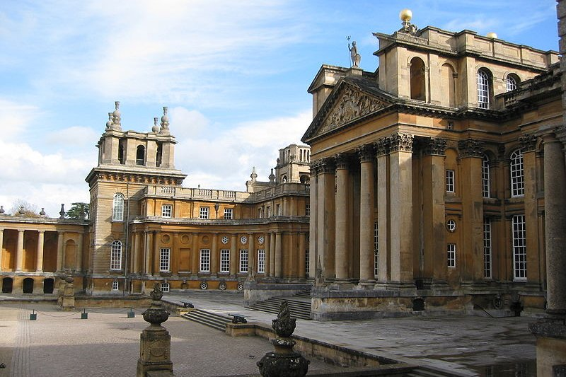 Front façade of Blenheim Palace