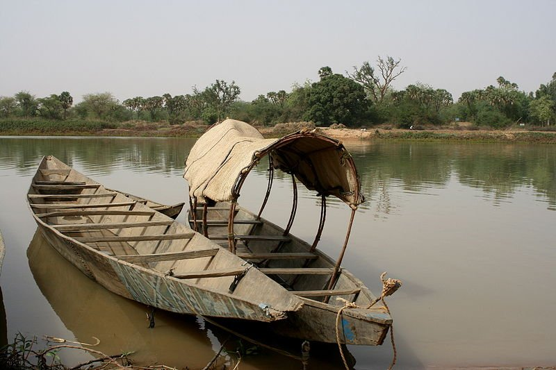 Boat on the Niver River in Niamey