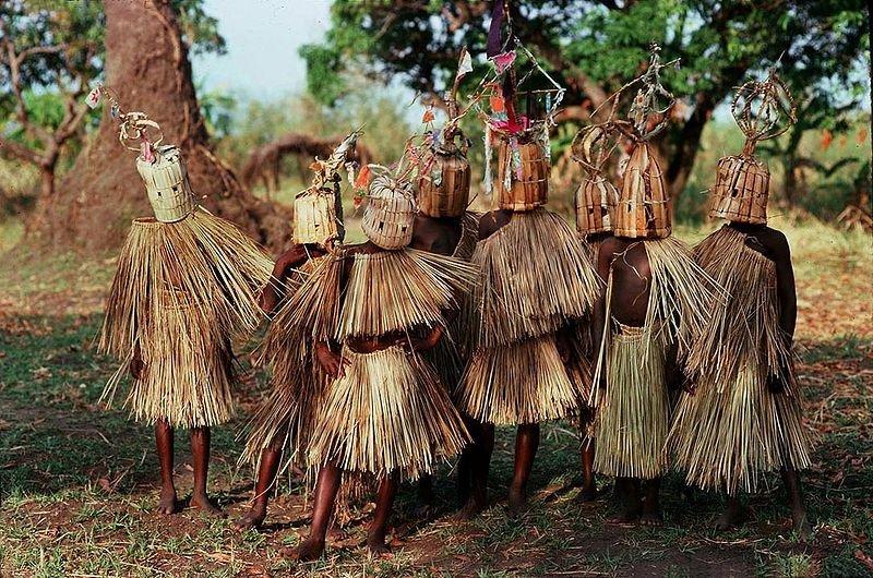 Boys undergoing circumcision rites in Malawi