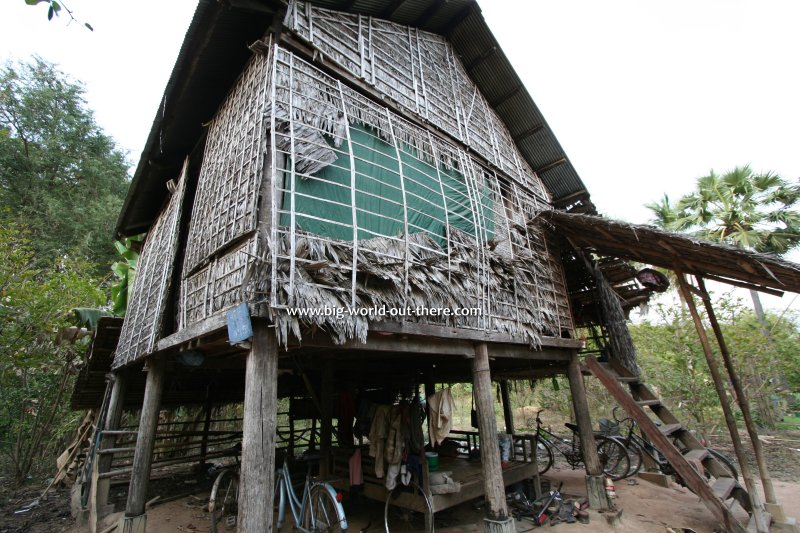 Farm shed in rural Cambodia near the ruins of Angkor