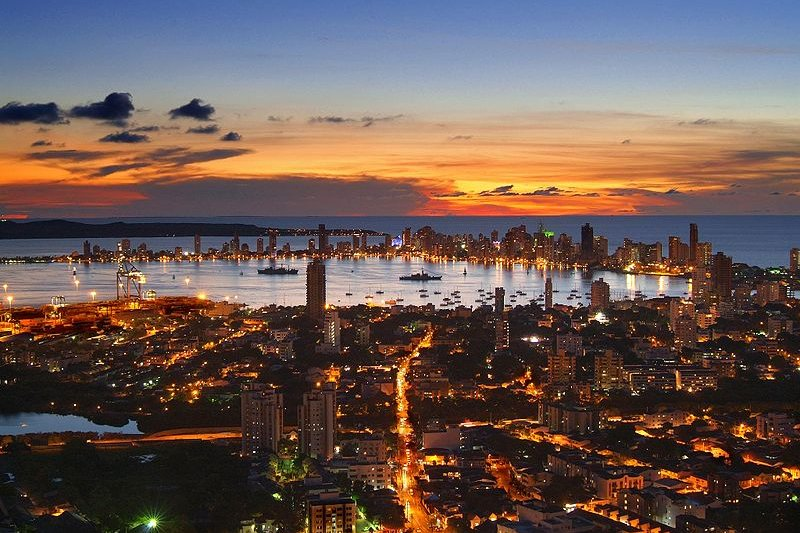 Cartagena at dusk, Colombia